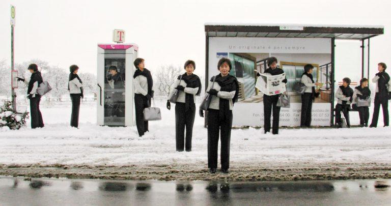 Bushaltestelle - Fotografie Multiple Identity 6
